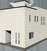 大容量ウォーインクロゼットと明るい2階リビングの家