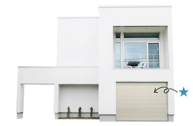 CHECK!家の屋上に庭があるわけですから、敷地を目一杯使ってインナーガレージ付きの家を建てることも出来ますね。